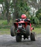 Hombre joven en ATV Fotografía de archivo libre de regalías
