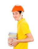 Hombre joven en casco Foto de archivo libre de regalías
