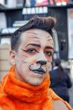 Hombre joven en el desfile de orgullo gay Sao Paulo Fotos de archivo libres de regalías
