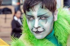 Hombre joven en el desfile de orgullo gay Sao Paulo Foto de archivo