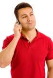 Hombre joven en el teléfono Fotografía de archivo