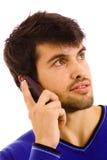 hombre joven en el teléfono Fotos de archivo