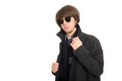 Hombre joven en gafas de sol Fotografía de archivo libre de regalías
