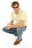 Hombre joven en gafas de sol imágenes de archivo libres de regalías