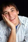 Hombre joven en humor feliz Imagen de archivo