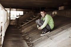 Hombre joven en la depresión Fotografía de archivo