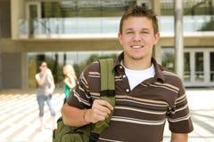 Hombre joven en la escuela Imágenes de archivo libres de regalías