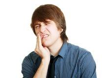 Hombres en dolor de diente Imagen de archivo libre de regalías
