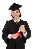 Hombre joven en la graduación Fotografía de archivo