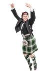 Hombre joven en la ropa para la danza del escocés Imagen de archivo