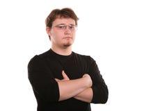 Hombre joven en los vidrios Imagen de archivo libre de regalías