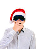 Hombre joven en máscara de ojo Imagenes de archivo