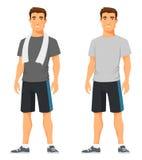 Hombre joven en ropa de deportes Imágenes de archivo libres de regalías