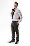 Hombre joven en ropa del negocio Imagenes de archivo