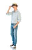 Hombre joven en ropa ocasional Fotografía de archivo