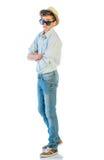 Hombre joven en ropa ocasional Imagenes de archivo