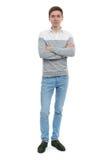 Hombre joven en ropa ocasional Imagen de archivo libre de regalías