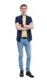 Hombre joven en ropa ocasional Foto de archivo libre de regalías