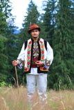 Hombre joven en traje del hutsul Fotografía de archivo