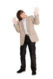 Hombre joven en un humor del pánico Imagen de archivo