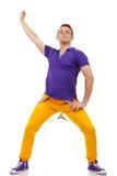 Hombre joven en una actitud de la danza imagen de archivo libre de regalías