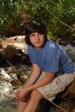 Hombre joven en una secuencia Foto de archivo
