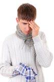 Hombre joven enfermo Foto de archivo libre de regalías