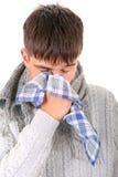 Hombre joven enfermo Imagen de archivo libre de regalías