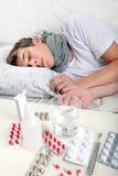 Hombre joven enfermo Fotos de archivo libres de regalías