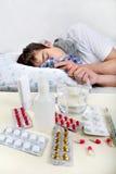 Hombre joven enfermo Imagen de archivo