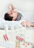 Hombre joven enfermo Fotografía de archivo libre de regalías
