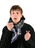 Hombre joven enfermo Fotos de archivo