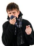 Hombre joven enfermo Imagenes de archivo