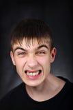 Hombre joven enojado Fotografía de archivo