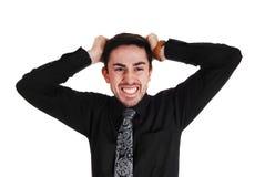 Hombre joven enojado. Fotos de archivo