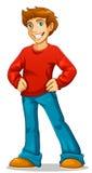 Hombre joven feliz ilustración del vector