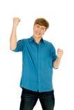 Hombre joven feliz Fotos de archivo