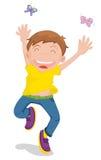 Hombre joven feliz stock de ilustración