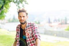 Hombre joven hermoso Fotografía de archivo