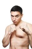Hombre joven listo para luchar Fotografía de archivo