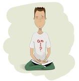 Hombre joven meditating ilustración del vector