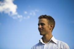 Hombre joven optimista Imagen de archivo libre de regalías