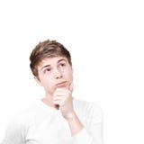 Hombre joven pensativo Fotos de archivo libres de regalías