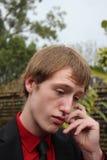 Hombre joven pensativo Imagen de archivo libre de regalías