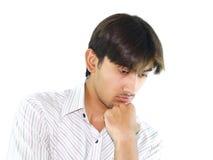 Hombre joven pensativo Fotografía de archivo libre de regalías
