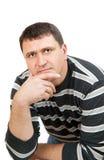 Hombre joven pensativo Imagen de archivo