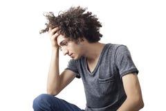 Hombre joven pensativo Imágenes de archivo libres de regalías