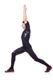 Hombre joven que hace ejercicios Fotos de archivo