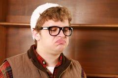 Hombre joven que hace una cara Fotos de archivo