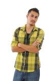 Hombre joven que mira en distancia Imagenes de archivo